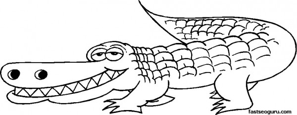 Free alligator coloring pages printable for kids Printable