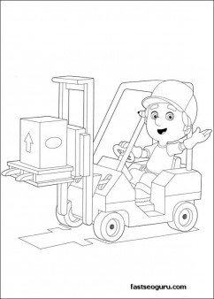 Handy Manny Trucks printable Coloring Pages for kids