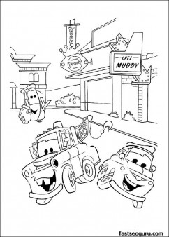 Free printable coloring pages for kids luigi guido and tow mater