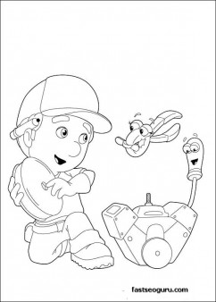 Handy Manny Coloring Pages Kids Printable Coloring Pages For Kids