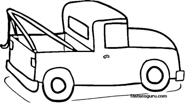 Pickup Truck coloring pages for print out Printable Coloring