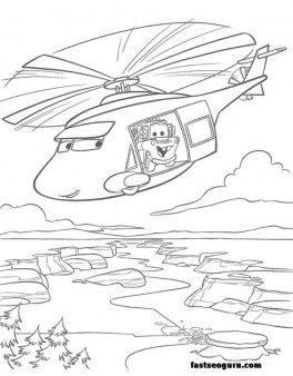 news helicopters tow mater coloring page for kids - Mater Coloring Pages