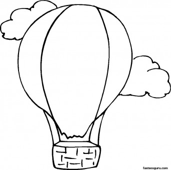 Balloon Coloring Pages - Best Coloring Pages For Kids | 338x341