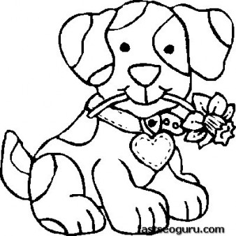 print out dog coloring pages for kids - Printable Coloring For Kids