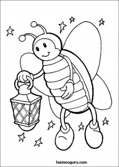 fire fly coloring pages kids Printable Coloring Pages