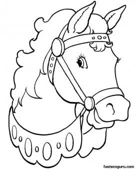 Printable coloring pages Animal Beautiful horses - Printable ...