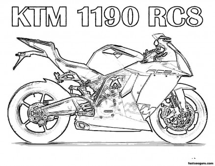 Free Printabel Motorcycle Coloring Pages for kids