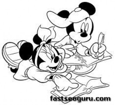 mickey mouse and minnie mouse Club coloring book