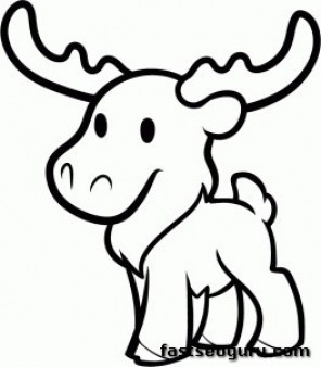Print out moose coloring pages for kids Printable Coloring Pages