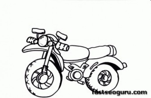 Printable coloring pages for kids Bike
