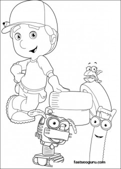 Printable Handy Manny Coloring Felipe Turner Squeeze