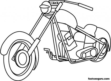 printable motorcycle coloring pages for childrens