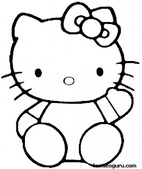 Printable hello kitty coloring pages for kids Printable Coloring