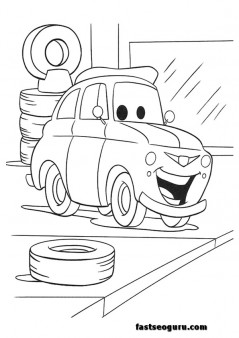 cars 2 luigi printable coloring pages