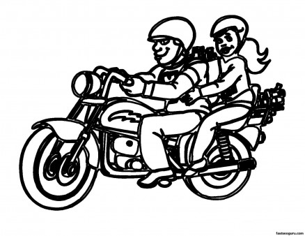 Print out coloring pages motorcycle for kids