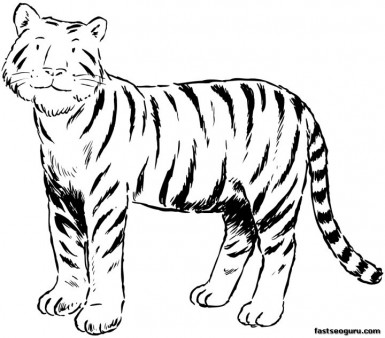 graphic regarding Printable Tiger Pictures named Printable Tiger Coloring Webpages for Small children - Printable Coloring