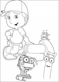 Handy Manny Cartoon Coloring For Kids Printable Coloring