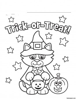 free halloween kitty costume printabel coloring pages - Halloween Free Coloring Pages