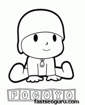 Main characters cartoon pocoyo coloring pages