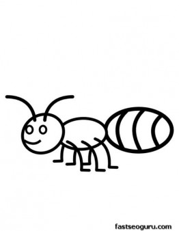 Printabel Animal Ant Coloring Pages For Kids Print