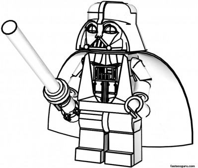 Lego Star Wars Darth Vader Coloring Pages For Kids Printable
