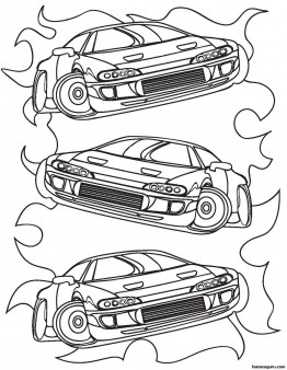 Printable For Boy Race Car Coloring Sheet