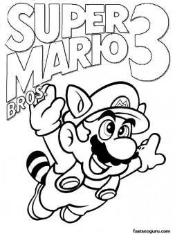 Printable Coloring Pages Super Mario 3 Printable