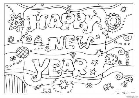 new year coloring pages 2013 | Printabel coloring pages Happy New Year 2013 - Printable ...