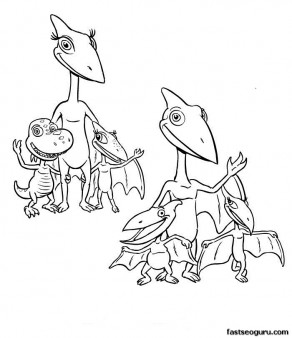 Print out Dinosaur Train Coloring
