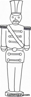 Christmas Toy Soldier Print out coloring sheet