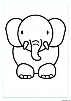 Print out animal elephant coloring pages Printable