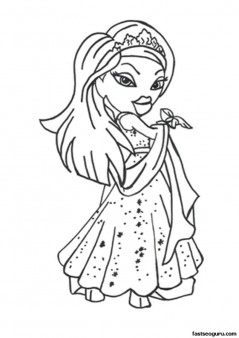 Printable yasmin bratz coloring pages for girls