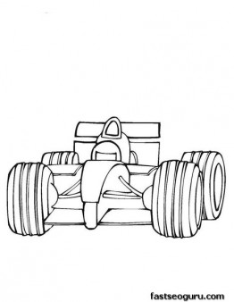 Printable coloring pages for boy Fast Car F1