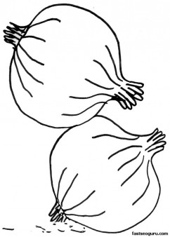 Printable Vegetable Onion Coloring Page