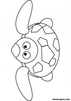 Print out oceanTurtle coloring page