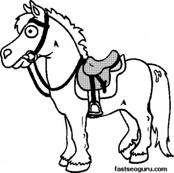 Printable coloring pages horse pony for girls