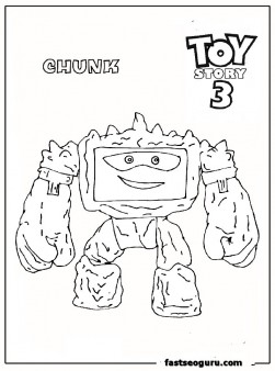 Chunk toy story 3 kids coloring page printable coloring for Free printable coloring pages toy story 3
