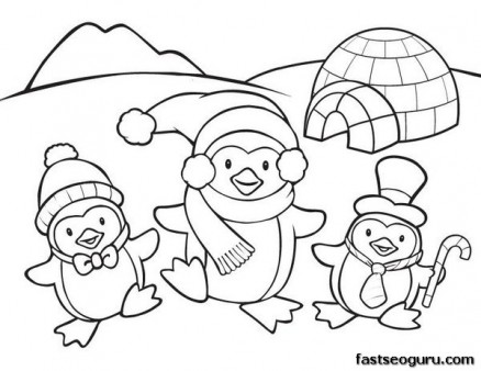 Merveilleux Printable Coloring Pages Animal Penguins For Kids