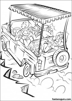 print out madagascar 2 safari in africa coloring page - Safari Coloring Pages