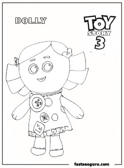 Dolly Toy Story 3 print out coloring pasge