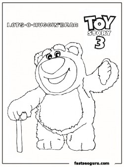 huggin bear toy story 3 coloring page