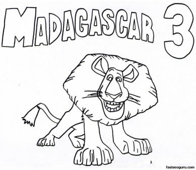 madagascar 3 circus coloring pages - photo#33