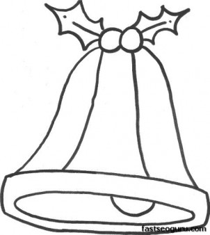 Printable Xmas Bell Coloring Sheet