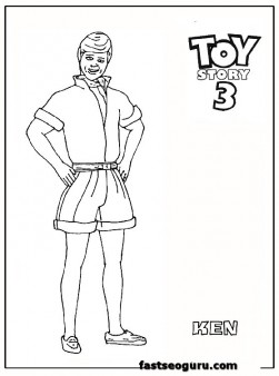 Ken Toy Story 3 Coloring Pages For Kids Printable