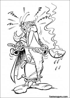 Printable Asterix Obelix coloring