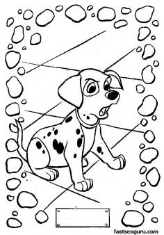 Printable 101 Dalmantes Coloring Page