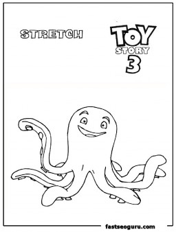 Stretch toy story 3 coloring page print out
