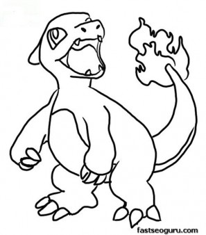 free Printable Charmeleon Coloring Page