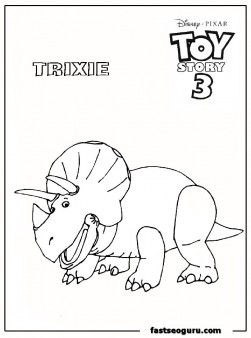 toy story3 trixie kids coloring pages