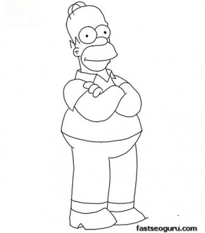 Printable Homer Simpson Coloring Page